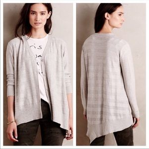 Left of Center Valonia High-Low Hem Cardigan Gray